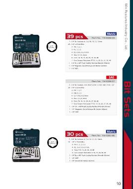 """PDR*SET CHIAVI A BUSSOLA TORX 9PZ 1//2/"""" T20-25-27-30-40-45-50-55-60 T20-T60 BOX"""